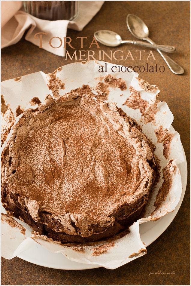 torta al cioccolato meringata chocolate meringue cake