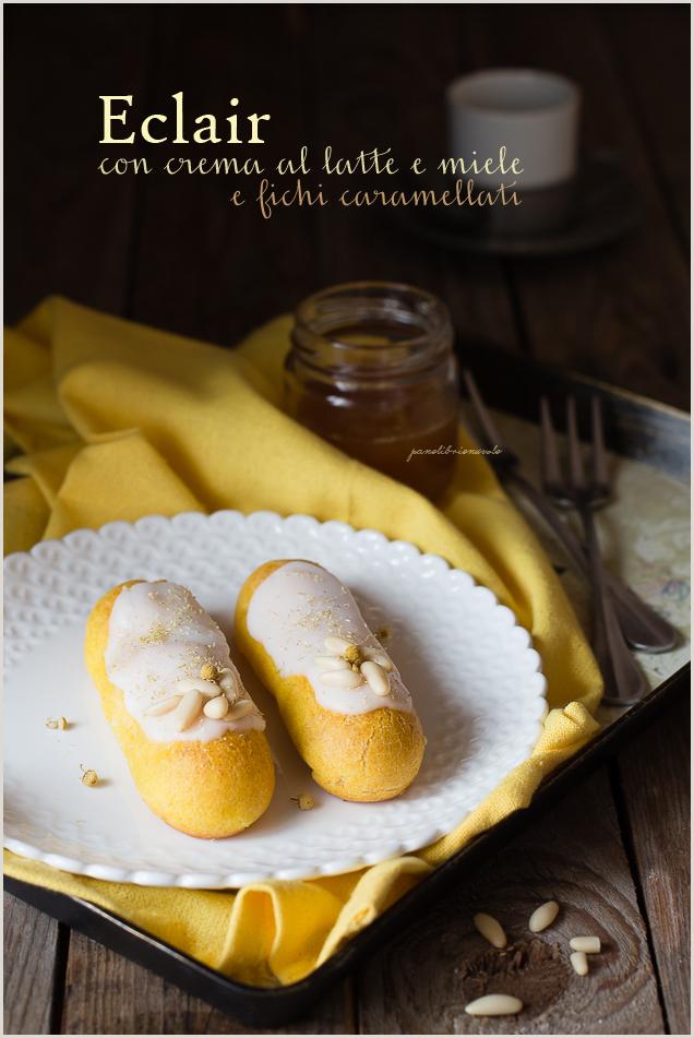 eclair crema al latte miele e fichi caramellati-2a